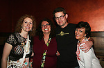 Fan Club Presidents Jill - Kendra pose with As The World Turns' Trent Dawson & Colleen Zenk Pinter at Trent Dawson's 6th Annual Martinis With Henry on April 17, 2010 at Latitude, New York City, New York. (Photo by Sue Coflin/Max Photos)