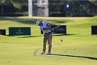 Paul Dunne (IRL) plays his 3rd shot on the 16th hole during Friday's Round 2 of the 2018 Turkish Airlines Open hosted by Regnum Carya Golf &amp; Spa Resort, Antalya, Turkey. 2nd November 2018.<br /> Picture: Eoin Clarke | Golffile<br /> <br /> <br /> All photos usage must carry mandatory copyright credit (&copy; Golffile | Eoin Clarke)