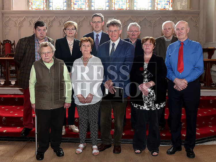 Mairead McGuinness MEP with committee members at the Save the Church launch in Collon Church of Ireland. Photo:Colin Bell/pressphotos.ie