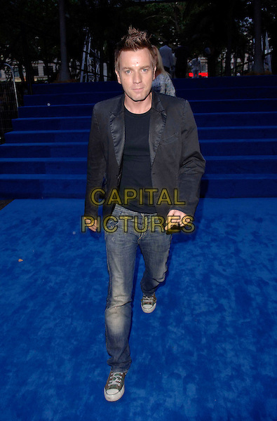 "EWAN McGREGOR.European film premiere""Miami Vice"".Odeon cinema Leicester Square.27th July 2006 in London, England.Ref: FIN.full length macgregor blue denim jeans black jacket converse.www.capitalpictures.com.sales@capitalpictures.com.©Steve Finn/Capital Pictures."