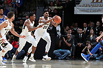WINSTON-SALEM, NC - JANUARY 23: Wake Forest's Terrence Thompson (20) grabs a rebound. The Wake Forest University Demon Deacons hosted the Duke University Blue Devils on January 23, 2018 at Lawrence Joel Veterans Memorial Coliseum in Winston-Salem, NC in a Division I men's college basketball game. Duke won the game 84-70.