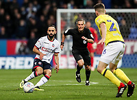 Bolton Wanderers' Erhun Oztumer competing with Blackburn Rovers' Darragh Lenihan<br /> <br /> Photographer Andrew Kearns/CameraSport<br /> <br /> The EFL Sky Bet Championship - Bolton Wanderers v Blackburn Rovers - Saturday 6th October 2018 - University of Bolton Stadium - Bolton<br /> <br /> World Copyright &copy; 2018 CameraSport. All rights reserved. 43 Linden Ave. Countesthorpe. Leicester. England. LE8 5PG - Tel: +44 (0) 116 277 4147 - admin@camerasport.com - www.camerasport.com