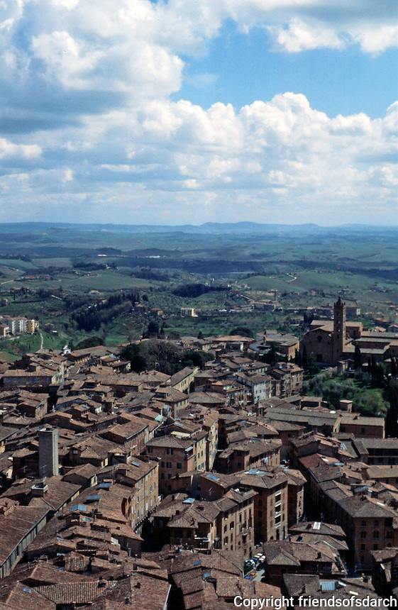 Siena:  View south from Tower.  Photo '83.
