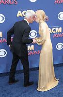 15 April 2018 - Las Vegas, NV -  Sam Elliott, Nicole Kidman.  2018 ACM Awards arrivals at MGM Grand Garden Arena. <br /> CAP/ADM/MJT<br /> &copy; MJT/ADM/Capital Pictures