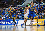 January 14, 2017:  San Jose State guard, Brandon Clarke #15, during the NCAA basketball game between the San Jose State Spartans and the Air Force Academy Falcons, Clune Arena, U.S. Air Force Academy, Colorado Springs, Colorado.  San Jose State defeats Air Force 89-85.