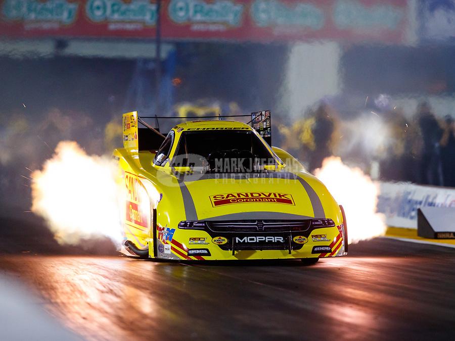 Sep 29, 2017; Madison , IL, USA; NHRA funny car driver Matt Hagan during qualifying for the Midwest Nationals at Gateway Motorsports Park. Mandatory Credit: Mark J. Rebilas-USA TODAY Sports
