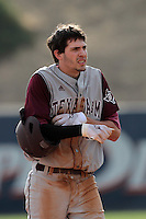 Matt Juengel #17 of the Texas A&M Aggies during a game against the Pepperdine Waves at Eddy D. Field Stadium on March 23, 2012 in Malibu,California. Texas A&M defeated Pepperdine 4-0.(Larry Goren/Four Seam Images)