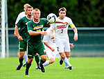 12 September 2010: University of Vermont Catamount midfielder Kyle Luetkehans, a Senior from LaGrange, IL, in action against the Cornell University Big Red at Centennial Field in Burlington, Vermont. The Catamounts defeated the Big Red 2-1. Mandatory Credit: Ed Wolfstein Photo