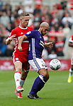 Samir Carruthers of Sheffield Utd tackled by Adam Forshaw of Middlesbrough during the Championship match at the Riverside Stadium, Middlesbrough. Picture date: August 12th 2017. Picture credit should read: Simon Bellis/Sportimage
