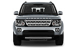 Car photography straight front view of a 2016 Land Rover Discovery HSE 5 Door Suv Front View