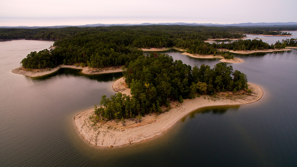 Lake Ouachita, Arkansas is pictured from the air on Tuesday, Sept. 5, 2017. (Photo by James Brosher)