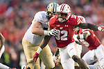 Wisconsin Badgers linebacker Leon Jacobs (32) during an NCAA College Big Ten Conference football game against the Purdue Boilermakers Saturday, October 14, 2017, in Madison, Wis. The Badgers won 17-9. (Photo by David Stluka)