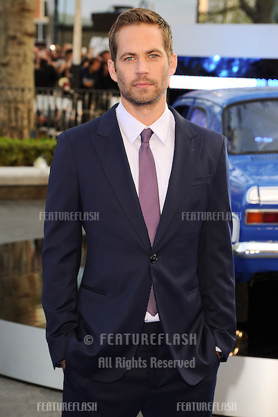 Paul Walker arriving for the 'Fast And Furious 6' Premiere, at Empire Leicester Square, London. 07/05/2013 Picture by: Steve Vas / Featureflash