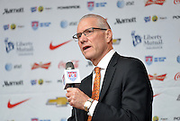 St. Louis, MO - Monday, July 27, 2015: U.S Soccer CEO Dan Flynn announced St. Louis will host USMNT's first qualifying match for the 2018 FIFA World Cup at Busch Stadium.