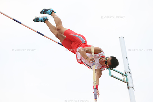 Daichi Sawano, <br /> SEPTEMBER 22, 2013 - Athletics : <br /> The 61st All Japan Industrial Athletics Championship <br /> Men's Pole Vault <br /> at Kumagaya Sports Culture Park Athletics Stadium, Saitama, Japan. <br /> (Photo by YUTAKA/AFLO SPORT) [1040]