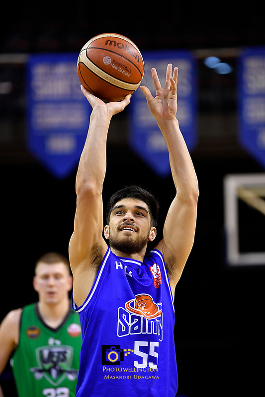 Saints' Shea Ili in action during the NBL - Cigna Saints v Manawatu Jets at TSB Bank Arena, Wellington, New Zealand on Sunday 30 June 2019. <br /> Photo by Masanori Udagawa. <br /> www.photowellington.photoshelter.com