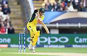 June 10th 2017, Edgbaston, Birmingham, England;  ICC Champions Trophy Cricket, England versus Australia; David Warner of Australia plays a ball down legside