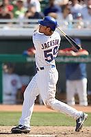 Brett Jackson. Chicago Cubs spring training game vs. Arizona Diamondbacks at Hohokam Stadium, Mesa, AZ - 03/05/2010.Photo by:  Bill Mitchell/Four Seam Images.