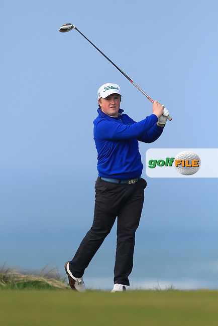 James McVicker (Shandon Park) during Round 1 of the 54 hole Stroke Play on April 10th  2015 for the 2015 Munster Youths' Open Championship, Tralee Golf Club, Tralee, Co.Kerry Ireland.<br /> Picture: Thos Caffrey / Golffile