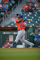 Syracuse Mets Dilson Herrera (16) at bat during an International League game against the Buffalo Bisons on June 29, 2019 at Sahlen Field in Buffalo, New York.  Buffalo defeated Syracuse 9-3.  (Mike Janes/Four Seam Images)