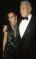 Shari Belafonte and John Forsythe 1982<br /> Photo By Adam Scull/PHOTOlink.net /MediaPunch