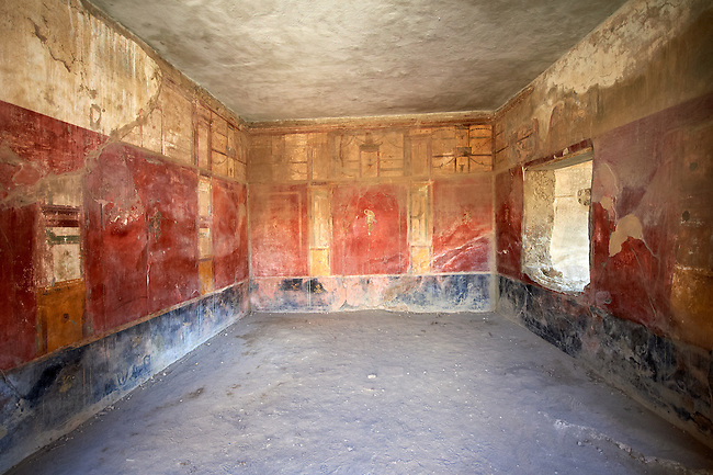 Roman Frescos of Pompei arhaeological site.