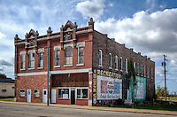 Old buildings in downtown Galena Kansas on route 66.