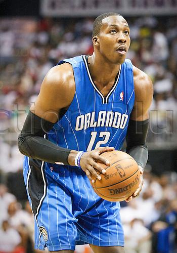 08 May 2010: Orlando's Dwight Howard in Eastern Conference Semi-Finals Atlanta Hawks 105-75 loss to the Orlando Magic in Game 3 at Philips Arena in Atlanta, GA.