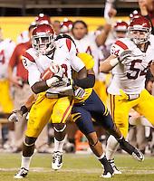 San Francisco, CA - October 13, 2011: USC linebacker Dion Bailey (18). Cal Bears vs USC at AT&T Park in San Francisco, California. Final score Cal Bears 9, USC 30.