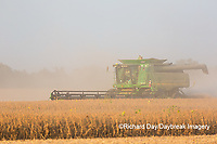 63801-08007 Soybean Harvest John Deere combine Marion Co. IL
