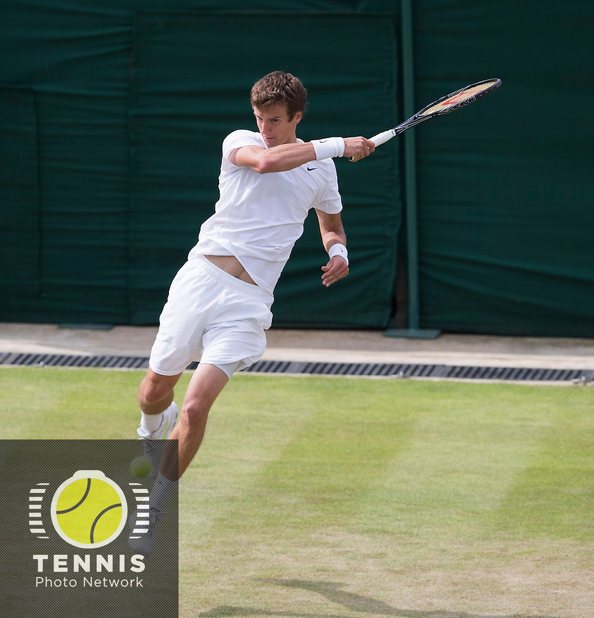 ANDREY KUZNETSOV (RUS)<br /> <br /> The Championships Wimbledon 2014 - The All England Lawn Tennis Club -  London - UK -  ATP - ITF - WTA-2014  - Grand Slam - Great Britain -  25th June 2014. <br /> <br /> &copy; Tennis Photo Network
