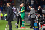 Nederland, Eindhoven, 25 oktober  2012.Europa League.Seizoen 2012-2013.PSV-AIK Przemyslaw Tyton, keeper (doelman) van PSV valt in voor Boy Waterman, keeper (doelman) van PSV