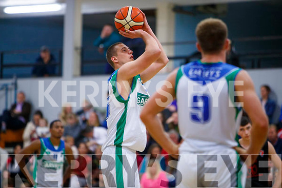 Dusan Bogdanovic Tralee Warriors in Action against Ballincollig in their pre season Tournament game at the Tralee Sports and Leisure Complex on Sunday.
