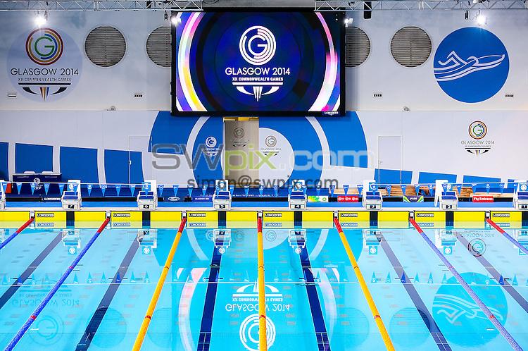 Picture by Alex Whitehead/SWpix.com - 28/07/2014 - 2014 Glasgow Commonwealth Games, Day 5 - Swimming - Tollcross Swimming Centre, Glasgow, Scotland - GV, General Views of the pool.
