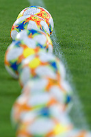 Adidas official Serie A balls <br /> Roma 11/08/2019 Stadio Stadio Olimpico Football friendly match pre season 2019/2020 AS Roma - Real Madrid <br /> Mabel Green Cup Trophy <br /> Foto Andrea Staccioli / Insidefoto