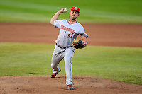 Harrisburg Senators pitcher Matt Swynenberg #37 during a game against the Erie Seawolves on July 2, 2013 at Jerry Uht Park in Erie, Pennsylvania.  Erie defeated Harrisburg 2-1.  (Mike Janes/Four Seam Images)