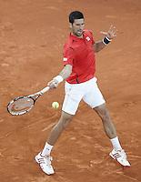 Novak Djokovic, Serbia, during Madrid Open Tennis 2016 match.May, 6, 2016.(ALTERPHOTOS/Acero) /NortePhoto.com