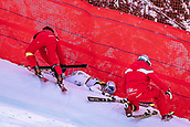 February 5th 2019, Are, Northern Sweden; Lindsey Vonn of the USA  Crashes out during the ladies Super-G of the FIS Ski Alpine World Championships 2019 in Aare