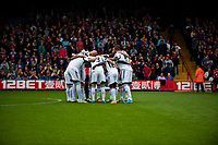 Sun 22 September 2013<br /> <br /> Pictured: Swans huddle<br /> <br /> Re: Barclays Premier League Crystal Palace FC  v Swansea City FC  at Selhurst Park, London