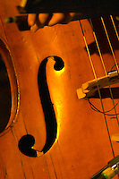 Detail of a bass for Traditional Uruguayan tango music Montevideo, Uruguay, South America Uruguay wine production institute Instituto Nacional de Vitivinicultura INAVI
