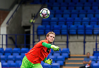 New signing Goalkeeper Loris Karius of Liverpool warms up before making his debut during the 2016/17 Pre Season Friendly match between Tranmere Rovers and Liverpool at Prenton Park, Birkenhead, England on 8 July 2016. Photo by PRiME Media Images.