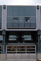 Nicholas Grimshaw & Partners: Sainsbury, Camden Road elevation.  Photo '90.
