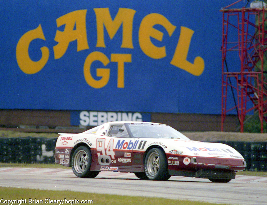 The #94 Chevrolet Corvette of John Heinracy, Stuart Hayner, and Andy Pilgrim races to a 14th place finish in the 12 Hours of Sebring, Sebring International Raceway, Sebring, FL, March 20, 1993.  (Photo by Brian Cleary/www.bcpix.com)