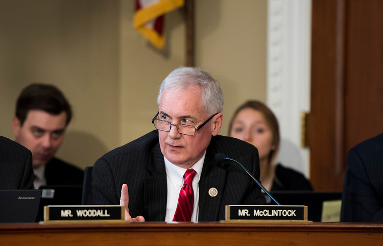 UNITED STATES - MARCH 16: Rep. Tom McClintock, R-Calif., participates in the House Budget Committee markup hearing on the GOP health care reconciliation legislation on Thursday, March 16, 2017. (Photo By Bill Clark/CQ Roll Call)
