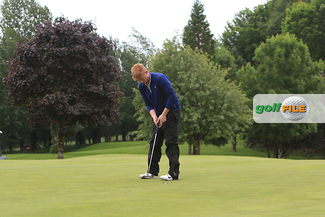 Eanna Griffin (Waterford) makes his put to win the Connacht Stroke Play Championship at Athlone Golf Club Sunday 11th June 2017.<br /> Photo: Golffile / Thos Caffrey.<br /> <br /> All photo usage must carry mandatory copyright credit     (&copy; Golffile | Thos Caffrey)