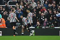 Kenedy of Newcastle United celebrates scoring the opening goal of the game during Newcastle United vs Southampton, Premier League Football at St. James' Park on 10th March 2018