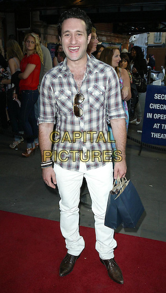 "ANTONY COSTA.""Priscilla: Queen Of The Desert The Musical"" - Cast Change, London, England, UK..June 22nd, 2010.arrivals full length white jeans denim brown check shirt anthony brown pointy shoes .CAP/WIZ.© Wizard/Capital Pictures."