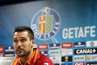 Getafe's Miguel Angel Moya in press conference after La Liga match.December 15,2012. (ALTERPHOTOS/Acero) /NortePhoto