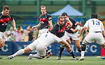 Hong Kong plays South Korea during the HSBC Asian 5 Nations 2012 tournament at the Hong Kong Football Club Stadium on May 5, 2012 in Hong Kong. Photo by Victor Fraile / The Power of Sport Images