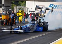 Jun 9, 2017; Englishtown , NJ, USA; NHRA top fuel driver Smax Smith during qualifying for the Summernationals at Old Bridge Township Raceway Park. Mandatory Credit: Mark J. Rebilas-USA TODAY Sports